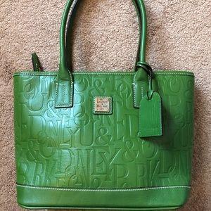 Dooney and Bourke Vintage Embossed Tote—Green